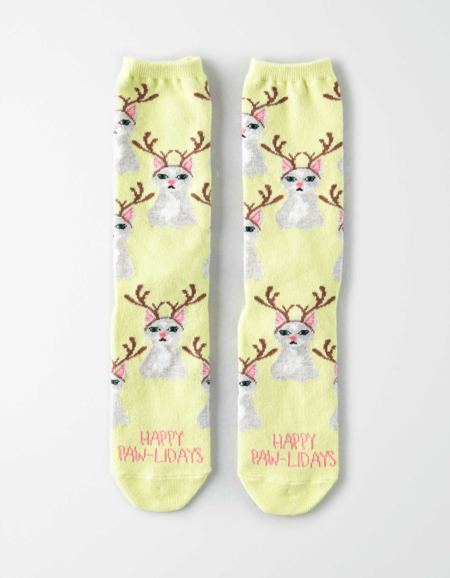 AEO Reindeer Cat Crew Sock
