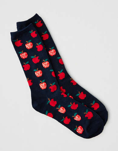 AEO NYC Apple Crew Sock
