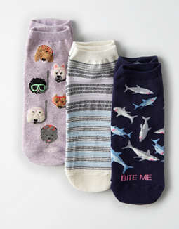 AEO Shark Ankle Socks 3-Pack