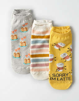 AEO Latte Ankle Socks 3-Pack
