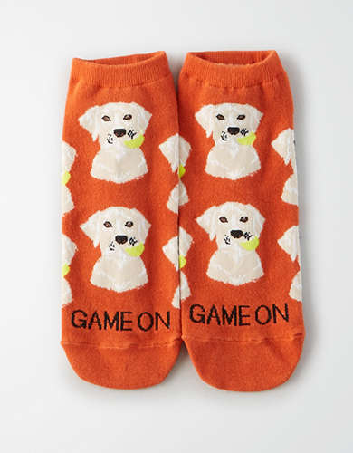 AEO Game On Dog Ankle Sock