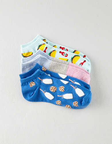 AEO Food Ankle Socks 3-pack