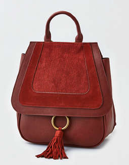 Aeo O Ring Corduroy Backpack by American Eagle Outfitters