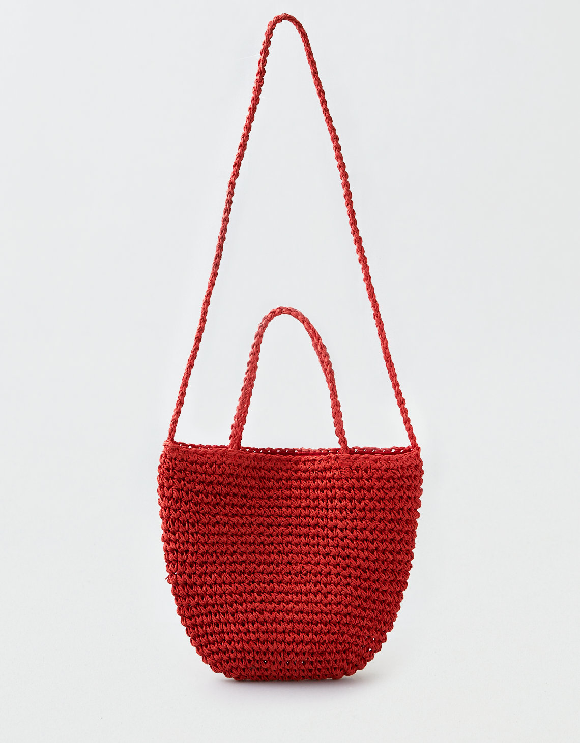 AEO Straw Bucket Crossbody Bag