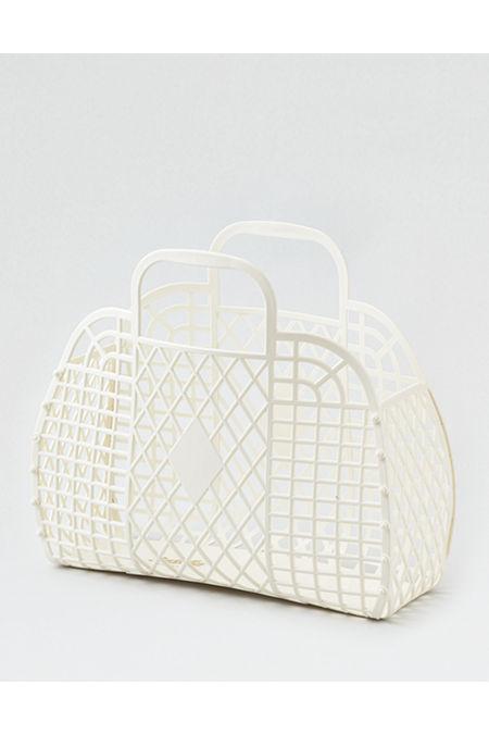Vintage Handbags, Purses, Bags *New* Sun Jellies Retro Basket Womens Cream One Size $27.50 AT vintagedancer.com