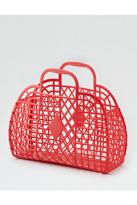 Vintage Handbags, Purses, Bags *New* Sun Jellies Retro Basket Womens Red One Size $27.50 AT vintagedancer.com