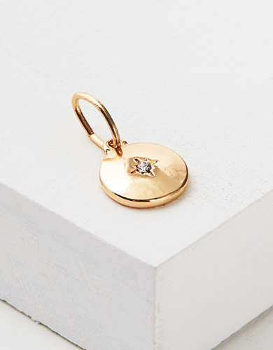 AEO Gold Disc Charm - Create Your Own Jewelry