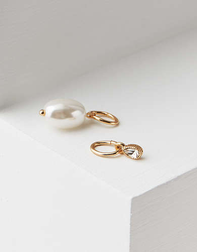 AEO Faux Pearl And Stone Charm - Create Your Own Jewelry