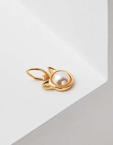 AEO Cat Faux Pearl Charm - Create Your Own Jewelry
