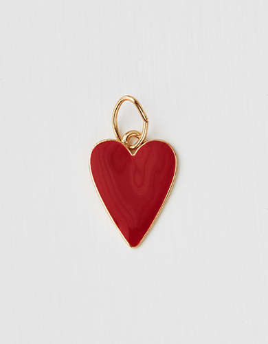 AEO Enamel Heart Charm - Create Your Own Jewelry