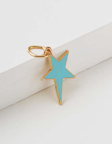 AEO Light Blue Star Charm - Create Your Own Jewelry