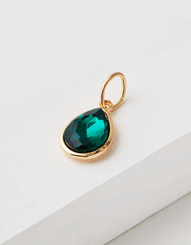 AEO Emerald Stone Charm - Create Your Own Jewelry