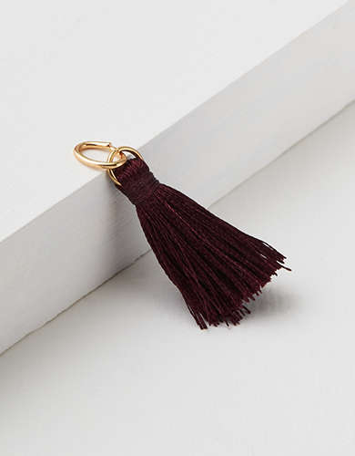 AEO Burgundy Tiered Tassel Charm - Create Your Own Jewelry
