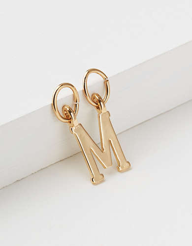 "AEO ""M"" Initial Charm - Create Your Own Jewelry"