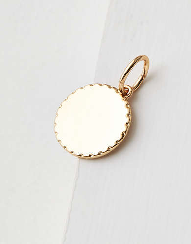 AE Gold Disk Charm - Create Your Own Jewelry
