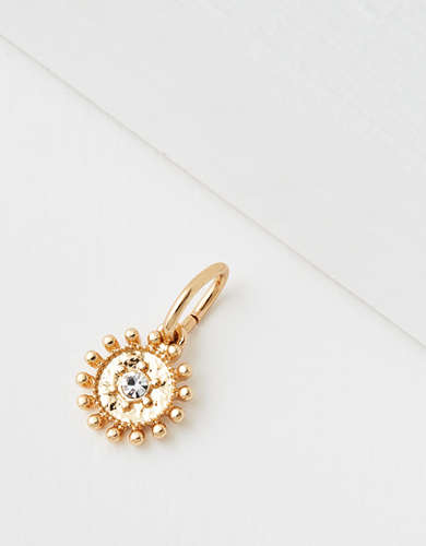 AE Gold Pave Disc Charm - Create Your Own Jewelry