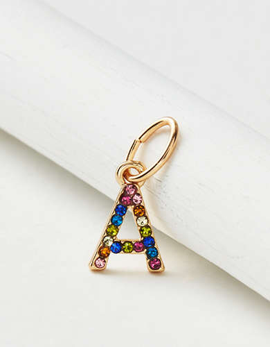 "AE Rainbow ""A"" Charm - Create Your Own Jewelry"