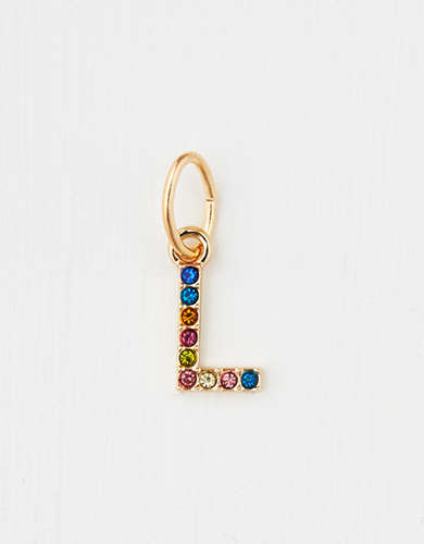 "AE Rainbow ""L"" Charm - Create Your Own Jewelry"