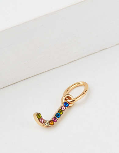 "AE Rainbow ""J"" Charm - Create Your Own Jewelry"