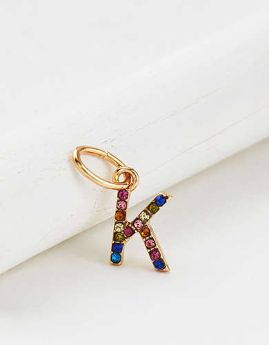 "AE Rainbow ""K"" Charm - Create Your Own Jewelry"