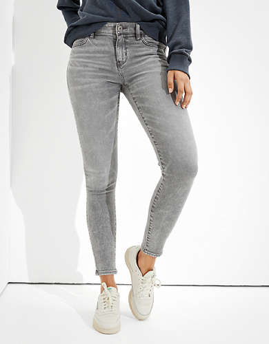 American Eagle AE Ne(x)t Level Patched Curvy Super High-Waisted Jegging
