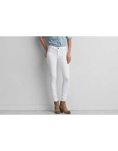 AEO Denim X Jegging, Sparkle White | American Eagle Outfitters
