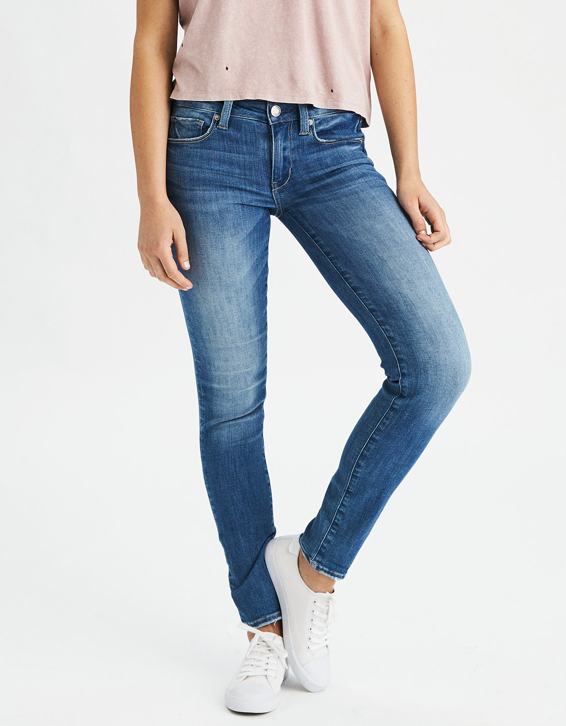 High waisted black skinny jeans american eagle
