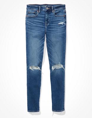 Рваные джинсы скинни с высокой талией AE