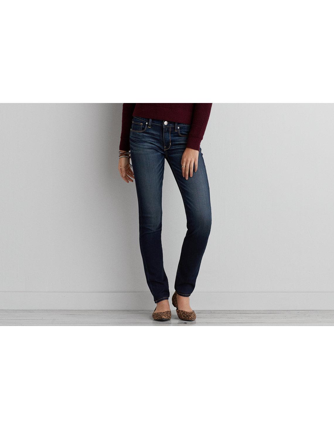 AE Denim X Skinny Jean - Indigo Super Skinny Jeans American Eagle Outfitters