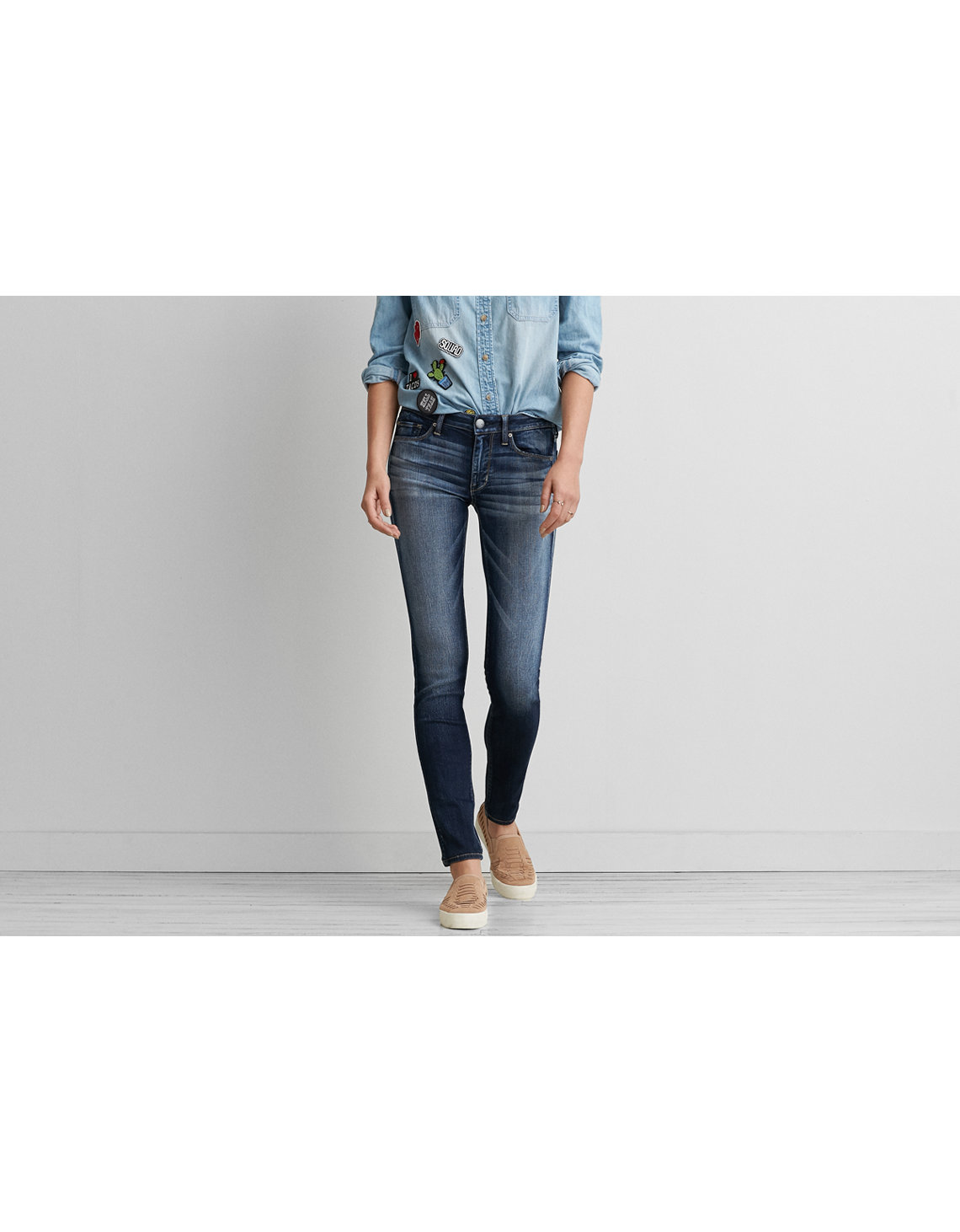 AEO Denim X Skinny Jean . - AEO Denim X Skinny Jean, Rubbed Ink American Eagle Outfitters