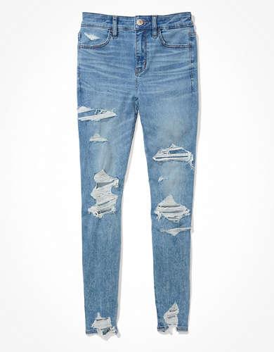 מכנסי ג'ינס Ne(x)t Level Ripped High-Waisted Jegging AE