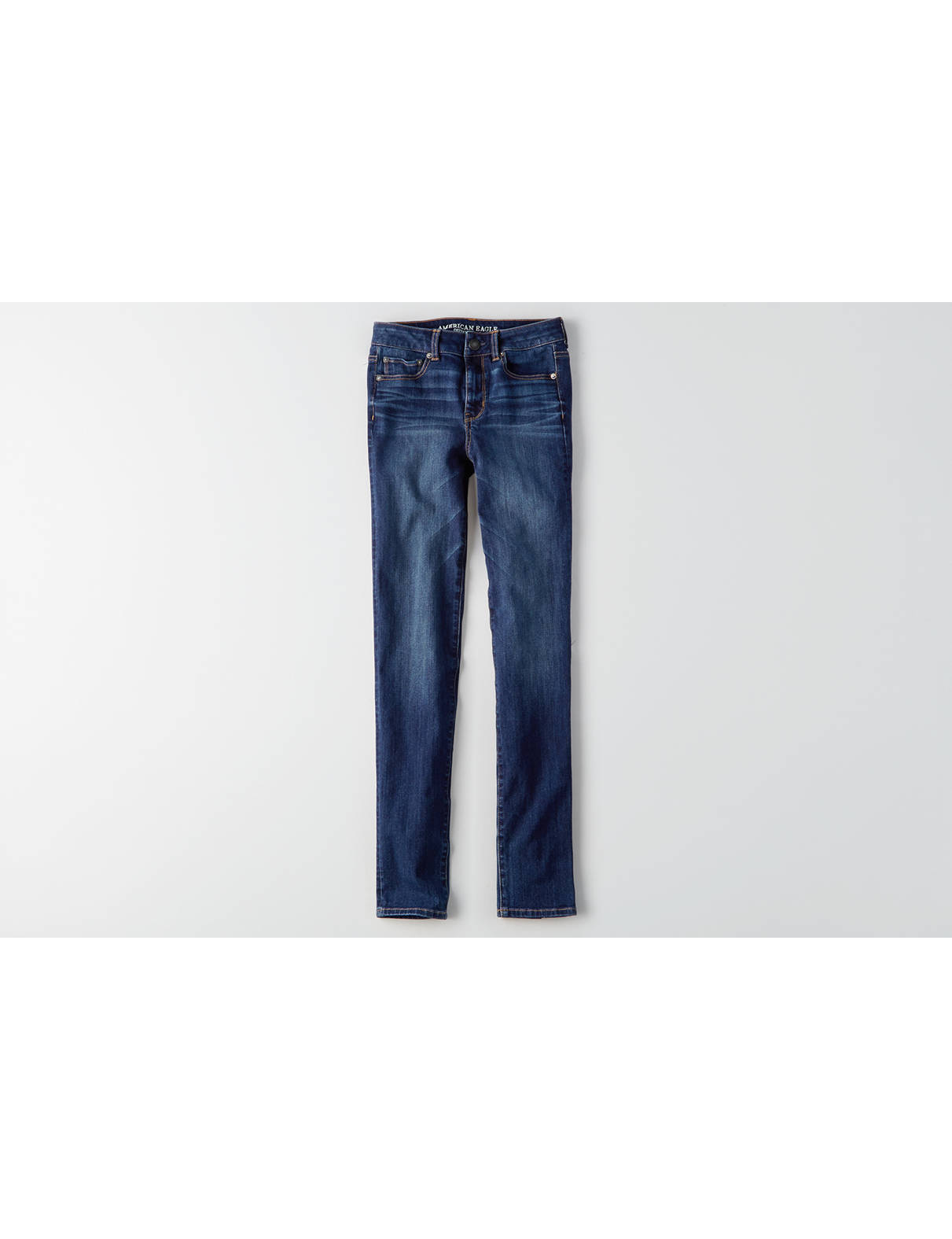 Display product reviews for AEO Denim X4 Hi-Rise Straight Jean - Hi-Rise Skinny Jeans American Eagle Outfitters