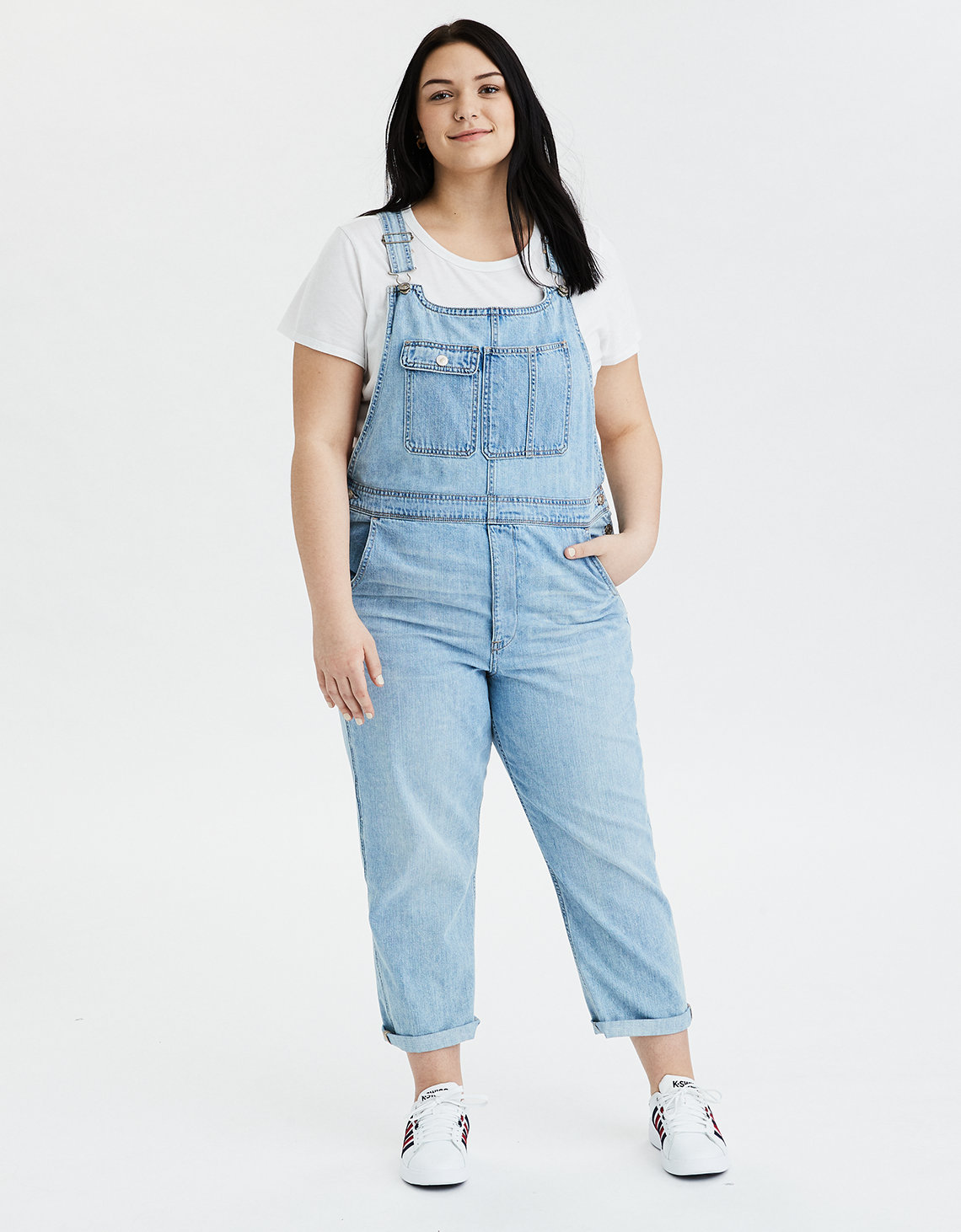 ea105c95cb AE High-Waisted Tomgirl Denim Overall. Placeholder image. Product Image