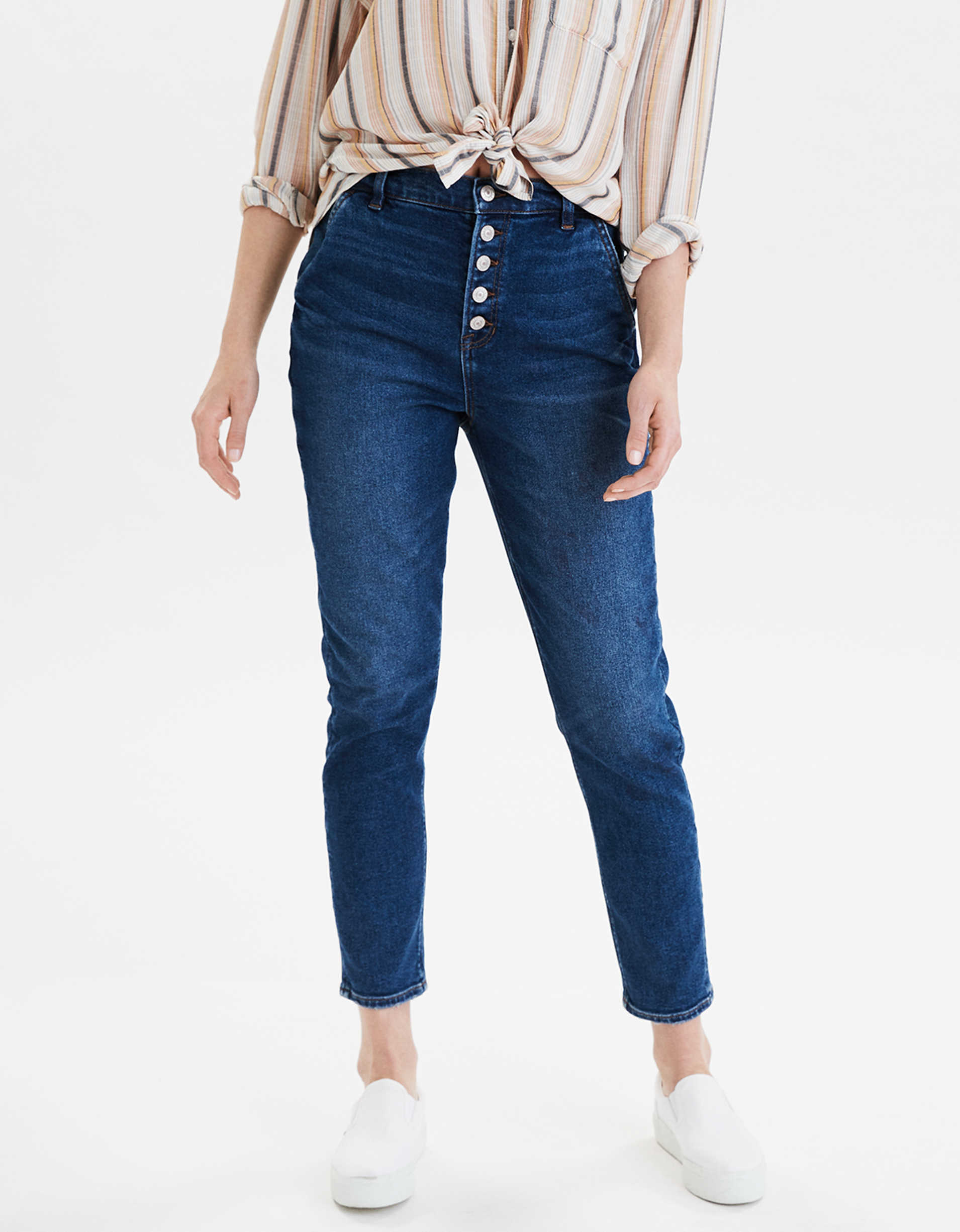 AE Stretch Mom Jean