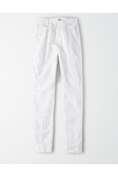 Vintage High Waisted Trousers, Sailor Pants, Jeans Mom Jean Womens Cool White 14 X-Long $19.99 AT vintagedancer.com