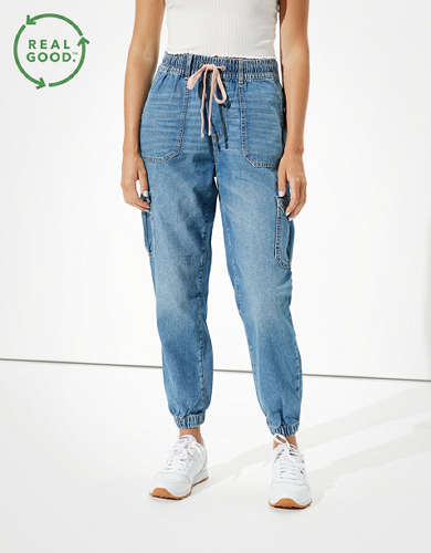 AE High-Waisted Denim Jogger