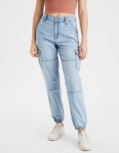High-Waisted Denim Jogger