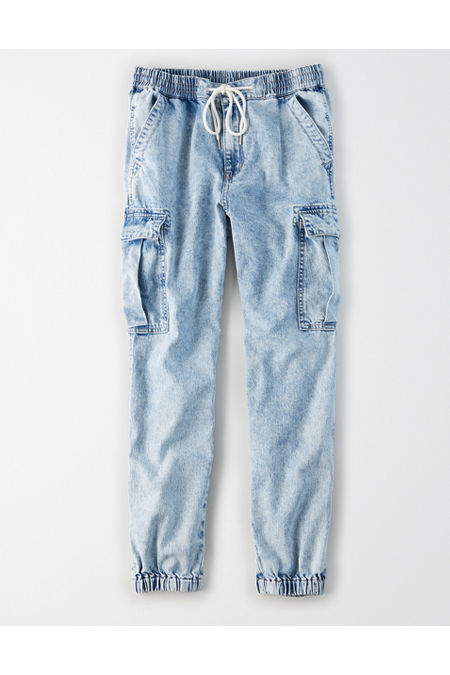 80s Men's Clothing | Shirts, Jeans, Jackets for Guys High-Waisted Denim Jogger Womens Light Acid Wash XXL $35.97 AT vintagedancer.com