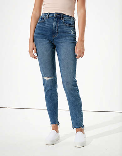 AE Highest Waist Stretch Mom Jean