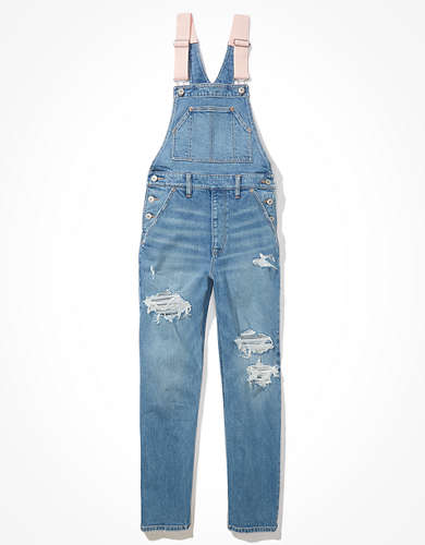 AE Stretch Ripped '90s Boyfriend Denim Overall