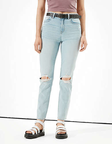 AE Comfort Stretch Waistband Mom Jean