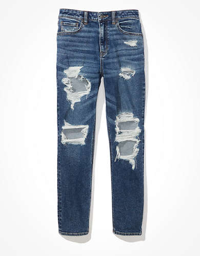AE Stretch Ripped Mom Jean