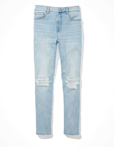 AE Ne(x)t Level Super Soft Ripped Mom Jean
