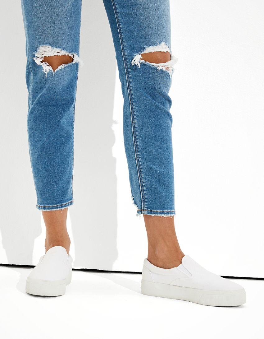 AE Ne(x)t Level Soft Knit Ripped Mom Jean
