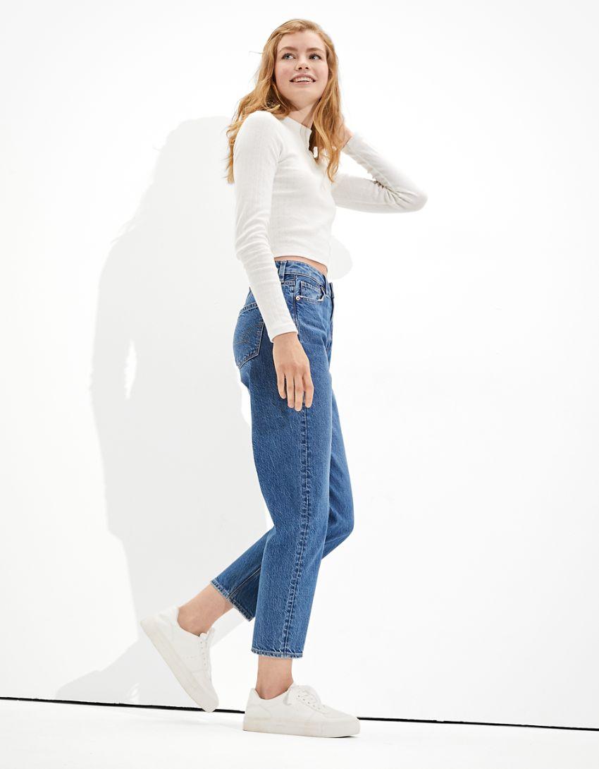 AE Mom Straight Jean