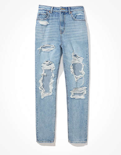 AE Ripped Highest Waist Mom Jean