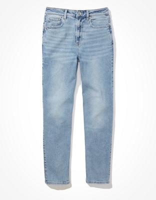 Стрейчевые прямые джинсы мом AE