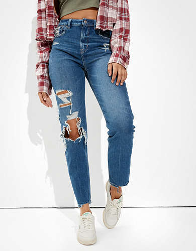 American Eagle AE Ripped Relaxed Mom Jean