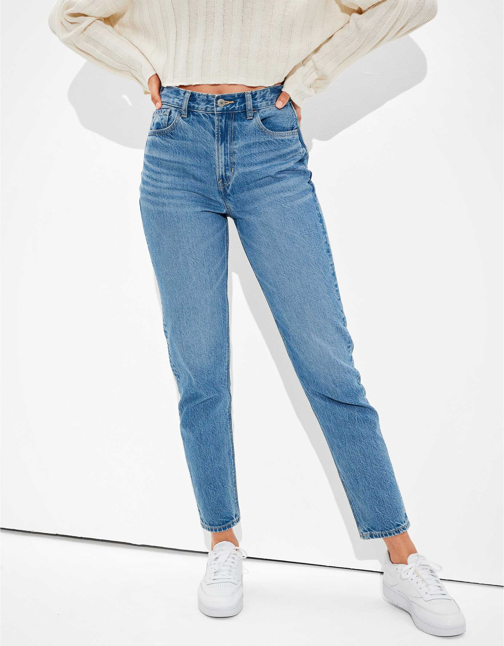 AE x The Jeans Redesign Mom Jean