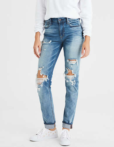 AE Denim X High-Waisted Slim Jean